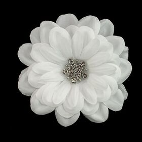 White Satin Flower Pin