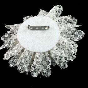 White Lace flower pin