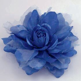 Navy Blue fabric flower