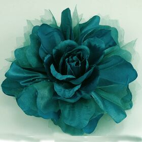 Teal Color fabric flower