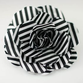 Black White Stripe Flower