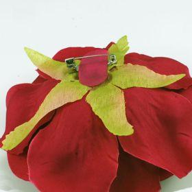 Burgundy Rose Flower Pin